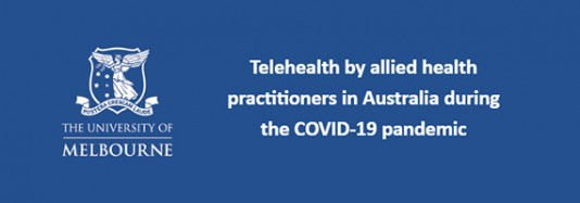 Telehealth al allied health practitioners in Australia during the COVD-19 pandemic