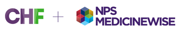 CHF and NPS MedicineWIse logos