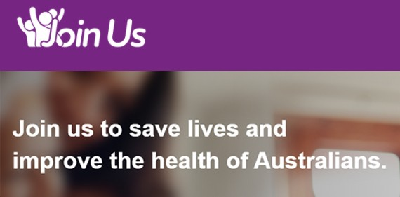 Join us to save lives and improve the health of Australians
