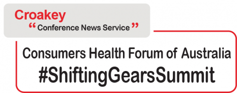Text  on image: Croakey News Service #Shifting Gears Summit