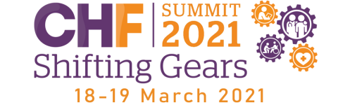 Logo for the CHF Summit 2021 Virtual Summit 18-19 March 2021