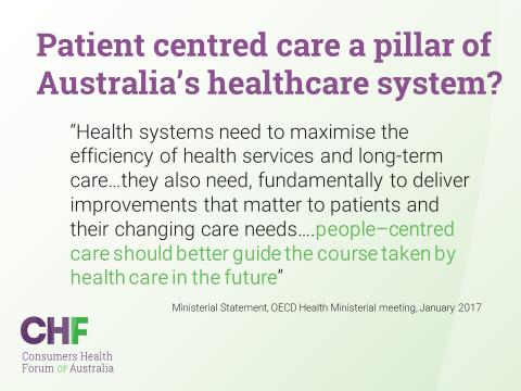 people-centred care should better guide the course taken by health care in the future - OECD Jan 2017