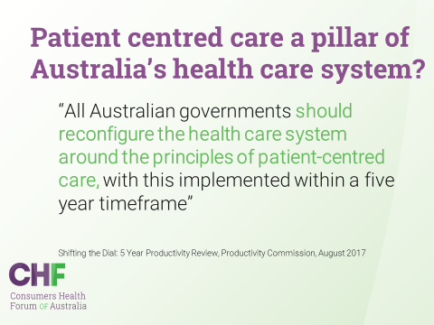 All Australian governments should reconfigure the health care system around the principles of patient-centred care - Productivity Commission