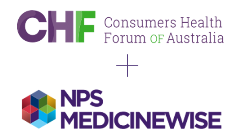 NPS Medicinewise and CHF Working Together Logo