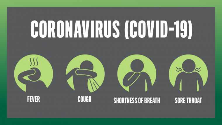 images or a person with shortness of breath, coughing, fever and a sore throat